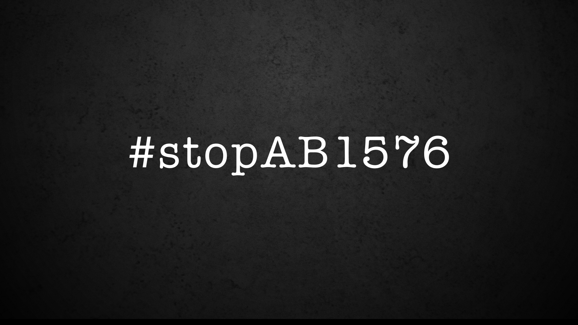 An important message to all performers! STOP AB 1576!